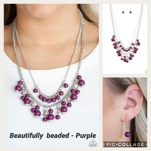 Beautifully beaded Purple Necklace